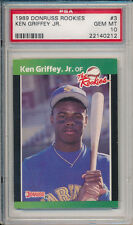 Ken Griffey Jr. Mariners 1989 Donruss Rookies #3 Rookie Card rC PSA 10 Gem QTY