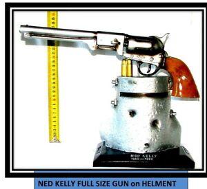 Ned Kelly's Full Size Gun on Helmet. 30cm high x 30wide Metallic Colour