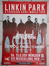 LINKIN PARK 2011 MÜNCHEN   orig.Concert-Konzert-Tour-Poster-Plakat DIN A 1