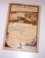 Ferrovia - Strade Ferrate Mediterraneo Orario Grafico - 1^ ed. 1901 - MOLTO RARO