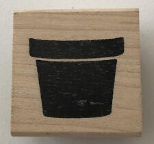 "Judi Kins Rubber Stamp Little Plant Pot 3120  1 x 7/8"""