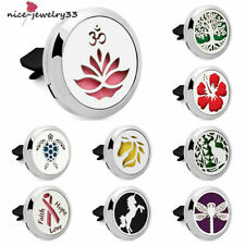 Stainless steel  Locket  Air Freshener Essential Oil car vent Diffuser Vent Clip