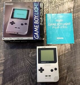 Nintendo Game boy Light Silver color console MGB-101 CIB Authentic US Seller