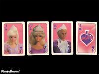 1992 Barbie For Girls Playing Cards Joker Ken Vintage Mattel Plastic Case