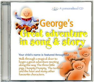 Personalised Kids CD  Children's Nursery Rhyme Song & Story Adventure  ANY NAME
