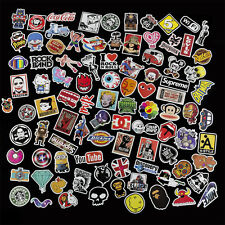 100 X Stickers Graphics Decal Vinyl Car Skate Skateboard Laptop Luggage Emblems