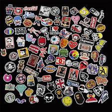 100 X Stickers Graphics Decal Vinyl Car Skate Skateboard Laptop Luggage Emblems