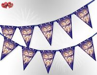 Bonfire Night the Guy Fawkes Mask 5th of November Bunting Banner by PARTY DECOR