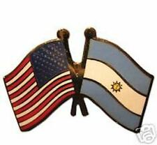Flag Lapel Badge Pin Argentina Friendship with Us