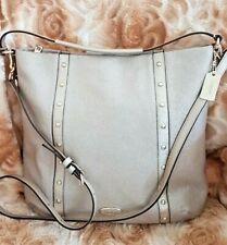 STUNNING $495 Coach GOLD CAVIAR Grain STUDDED Shoulder Bag 34513 ~ Excellent !!