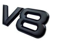 LOGO V8 NOIR 3D BADGE EMBLEME MÉTAL STICKERS SIGLE VOITURE