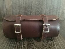 HANDMADE SADDLE BROWN BRIDLE LEATHER MENS DESIGNER BIKE BAG TRAVEL GROOMING KIT