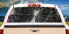 SHATTERED Rear Window Graphic back truck decal suv view thru vinyl