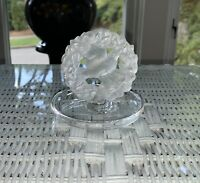 Lalique France Crystal Pax Dove Bird Trinket / Jewelry Dish