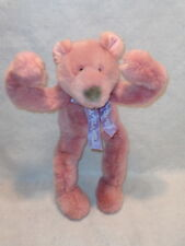 """Mary Meyer FUNNY BONES Pink 18"""" TEDDY BEAR Fully POSABLE Bendable 1995 Exc Cond!"""