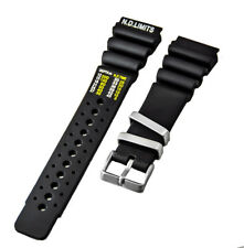 24mm Black PU-Rubber Style Watch Band (N.D. LIMITS) | CITIZEN AQUALAND PROMASTER