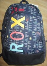 NEW ROXY BACKPACK BOOK SCHOOL STUDENT Laptop Tablet Pouch BAG Blue Night Skies