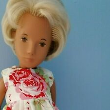 BJB Vintage Sasha doll clothes, Pretty cream and pink roses dress country garden