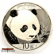 2018 30g Chinese Silver Panda 30 gram Silver Bullion Coin unc: