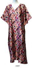 Ladies full pattern  printed Satin Long Kaftan/ holiday wear. UK 10-32