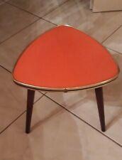 Table d'appoint sellette guéridon porte plante formica rouge années 60 vintage