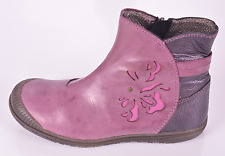 Noel Patty Girls Fig Leather Zip Boots UK 9 EU 27 US 9.5 RRP £58.00