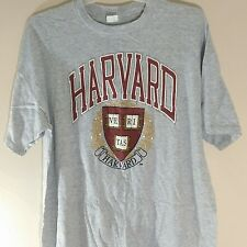 Vintage Harvard University Mens Size 3XL T-Shirt Crimson Gray XXXL Made In USA