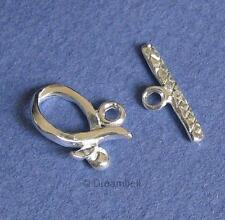 1x Sterling Silver Ribbon Toggle Clasp SC147W