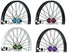 """NEW SAVAGE BMX BIKE 20 """" ALLOY FRONT WHEELS. CHOICE OF 4 COLOURS. SVWH01."""