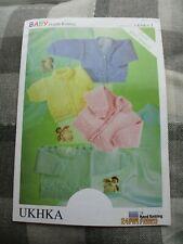 "Baby Knitting Pattern UKHKA 1 DK 12-22"" Cardigans Sweater"
