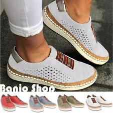 Mujeres Cuero Mocasines Zapatos Planos Mocasines Sin Cordones Informal Vestido Zapatos Aireados