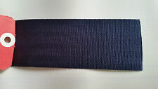 SEATBELT WEBBING 10mtr x 50mm BLACK  heat sealed each end  horse rugs,