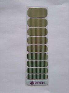 Jamberry Half Sheet Mint Green & Gold Stripe
