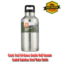 64-Ounce Double Wall Vacuum Sealed High-Grade 18/8 Stainless Steel Water Bottle
