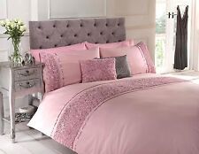Luxury Vintage Bedding Range of Embroidered Duvet Quilt Cover Bed Set & Cushion