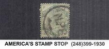 1884 Great Britain GB SC 107 | SG 196 Used QV 1sh Green, Wmk 30*