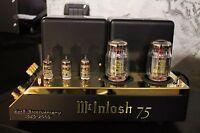 McIntosh MC75 Power Ampere 60th anniversary Gold limitierte Auflage matched Paar