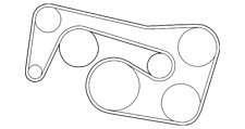 Genuine Mercedes-Benz Serpentine Belt 003-993-73-96