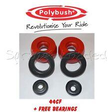 Polybush Front Strut Top Mounts -10mm +FREE BEARINGS for VW GOLF R32 Mk4 2001-04