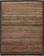 2.5X4 Hand-Knotted Gabbeh Carpet Modern Brown Fine Wool Accent Rug B8905