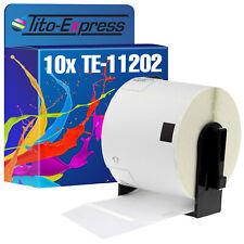 10x Etiketten für Brother P-Touch DK-11202 62x100mm 600 650 700 710 720 800 810