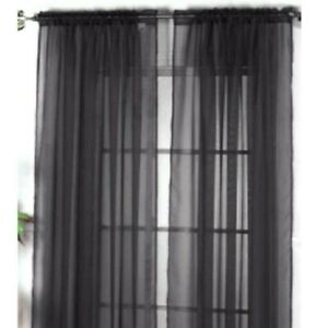 Window Curtain Bedroom Voile Drape Panel Sheer Solid Color Curtain for Decor