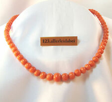 Splendida CORALLI CATENA COLLIER CORALLO CATENA Old Coral Necklace/au 130