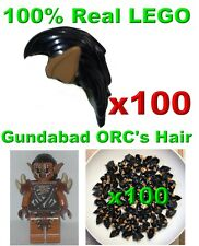 LEGO HOBBIT GUNDABAD ORC MINIFIGURE HAIR MEDIUM DARK FELSH EARS LOT 100X GENUINE