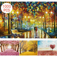 Jigsaw Puzzles 1000 Piece Walk in the Rain for Adult Kids Puzzle Home Decor Gift