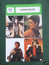 FLORINDA BOLKAN - MOVIE STAR - FILM TRADE CARD - FRENCH