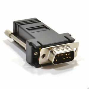 RJ45 Female Socket to 9 pin Serial DB9 Male Adapter