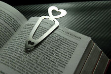 HEART Love Bookmark Page Bookworm PaperClip Reading Paperback Hardback Book Gift