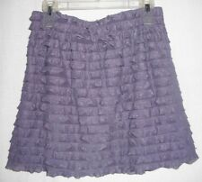 XHILARATION sz M stretch knit MINI skirt TIERED RUFFLES