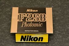 nikon f2sb, manual English, 99% mint, original, collector, beautiful,rare